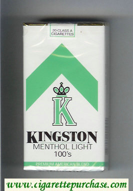 Kingston K Menthol Light 100s cigarettes soft box