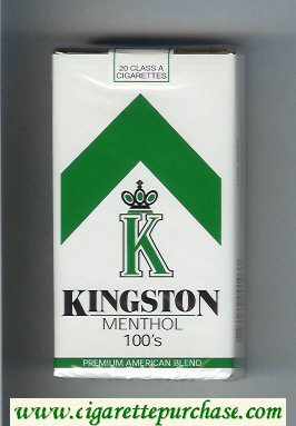 Kingston K Menthol 100s cigarettes soft box