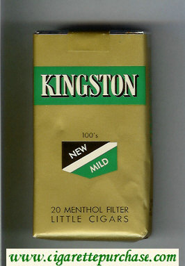 Kingston 100s 20 New Mild Menthol Filter Little Cigars cigarettes soft box