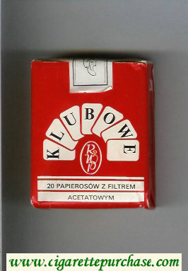 Klubowe red and white cigarettes soft box