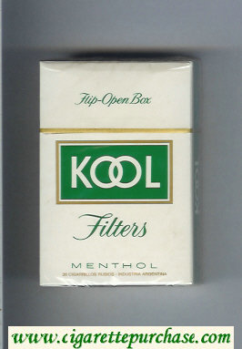 Discount Kool Menthol Filter cigarettes hard box