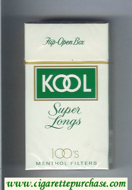 Discount Kool Super Longs 100s Menthol Filters cigarettes hard box
