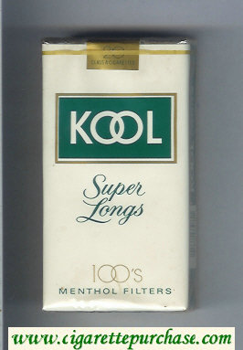 Discount Kool Super Longs 100s Menthol Filters cigarettes soft box