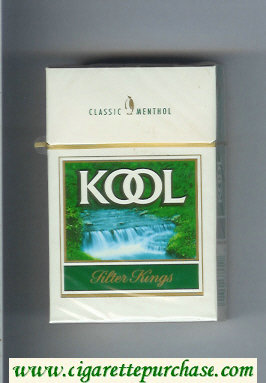 Discount Kool Classic Menthol Filter Kings cigarettes hard box