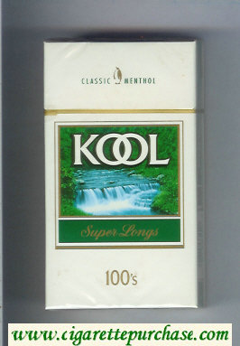 Discount Kool Classic Menthol Super Longs 100s cigarettes hard box