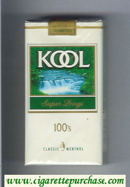 Kool Classic Menthol Super Longs 100s cigarettes soft box