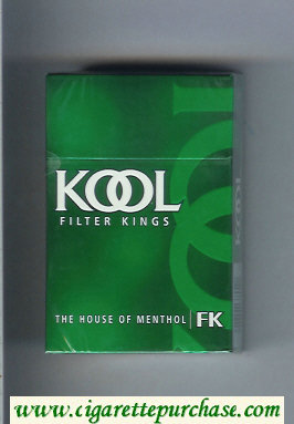 Discount Kool Filter Kings The House of Menthol cigarettes hard box