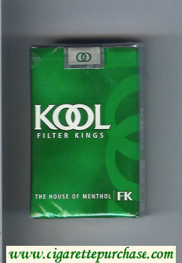 Discount Kool Filter Kings The House of Menthol cigarettes soft box