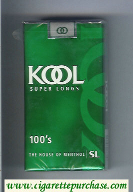 Discount Kool Super Longs 100s The House of Menthol cigarettes soft box