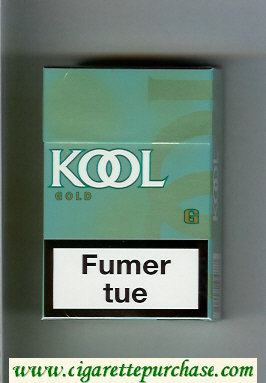 Discount Kool Gold cigarettes hard box