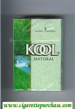 Discount Kool Natural Menthol cigarettes hard box
