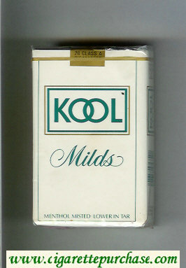 Kool Milds Menthol white cigarettes soft box