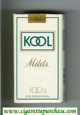 Discount Kool Milds 100s white cigarettes soft box
