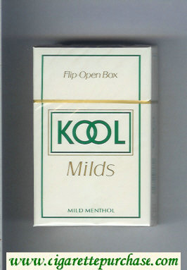 Discount Kool Milds Mild Menthol white cigarettes hard box