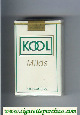 Kool Milds Mild Menthol white cigarettes soft box