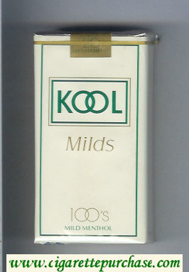 Kool Milds 100s Mild Menthol white cigarettes soft box