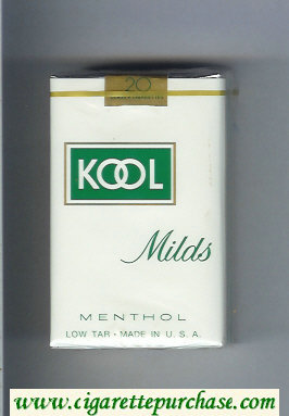 Kool Milds Menthol white and green cigarettes soft box
