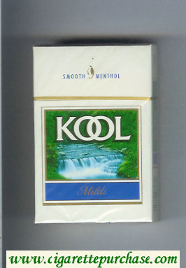 Kool Milds Menthol cigarettes hard box