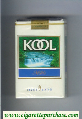 Kool Milds Menthol cigarettes soft box