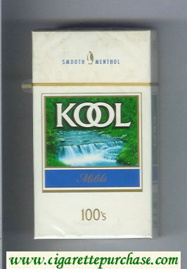Kool Milds Menthol 100s cigarettes hard box