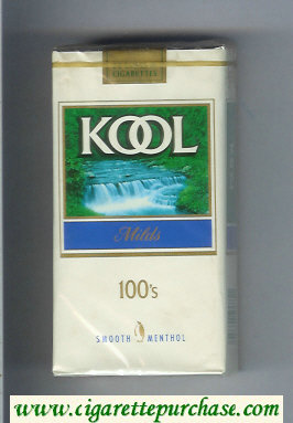 Kool Milds Menthol 100s cigarettes soft box
