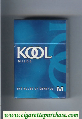 Kool Milds The House of Menthol cigarettes hard box