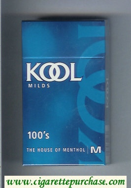 Kool Milds 100s The House of Menthol cigarettes hard box