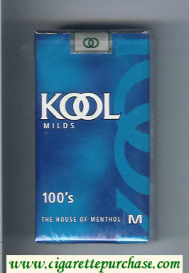 Discount Kool Milds 100s The House of Menthol cigarettes soft box