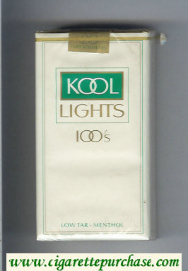 Discount Kool Lights 100s Menthol cigarettes soft box