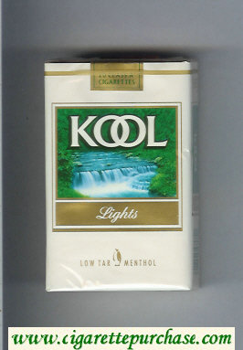 Discount Kool Lights Low Tar Menthol cigarettes soft box