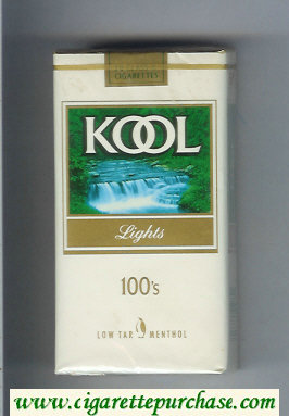 Discount Kool Lights 100s Low Tar Menthol cigarettes soft box