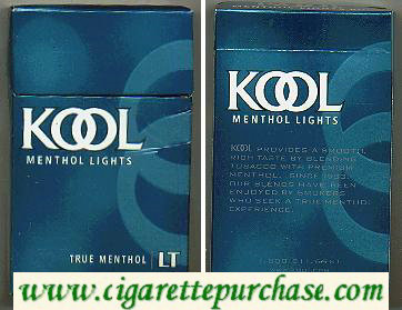 Discount Kool Menthol Lights cigarettes hard box