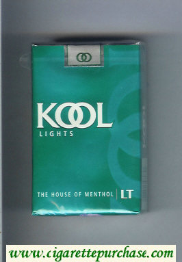 Discount Kool Lights The House of Menthol cigarettes soft box