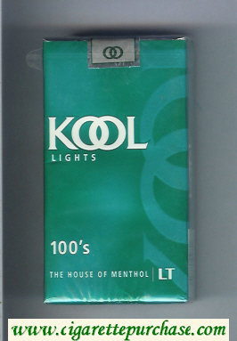 Discount Kool Lights 100s The House of Menthol cigarettes soft box
