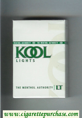 Kool Lights The Menthol Authority cigarettes hard box