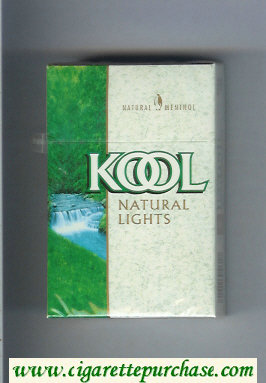 Discount Kool Natural Lights Menthol cigarettes hard box