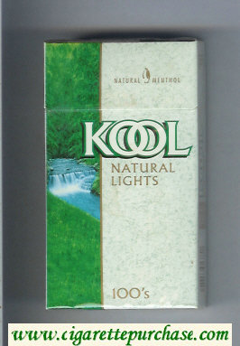 Discount Kool Natural Lights 100s Menthol cigarettes hard box