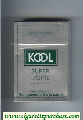 Discount Kool Super Lights Menthol cigarettes hard box