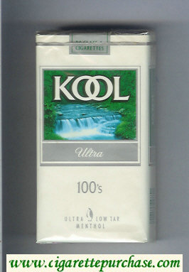 Kool Ultra 100s Menthol cigarettes soft box