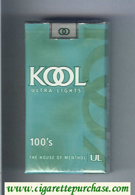 Kool Ultra Lights 100s The House of Menthol cigarettes soft box