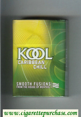 Kool Caribbian Chell Smooth Fusion From The House of Menthol cigarettes hard box