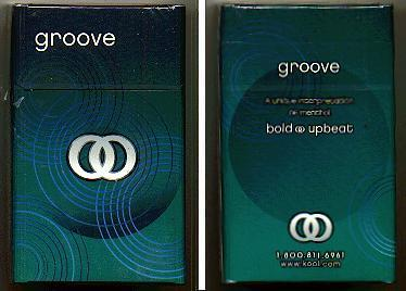 Kool Groove A unique interpretation of menthol cigarettes hard box