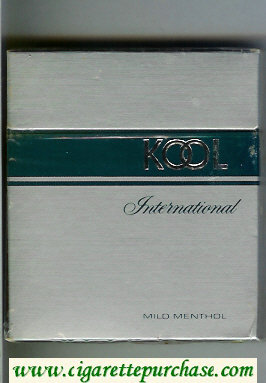 Kool International 100s Mild Menthol cigarettes wide flat hard box