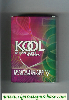 Kool Midnight Berry Smooth Fusion From The House of Menthol cigarettes hard box