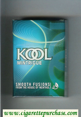 Discount Kool Mintrigue Smooth Fusion From The House of Menthol cigarettes hard box