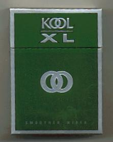 Kool XL Green Full Flavor cigarettes hard box