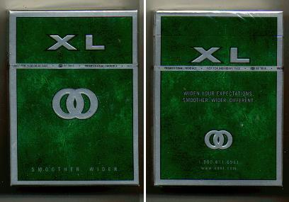 Kool XL Green Smoother Wider cigarettes hard box