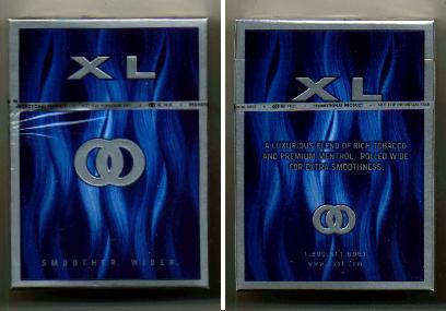 Kool XL Blue Smoother Wider cigarettes hard box