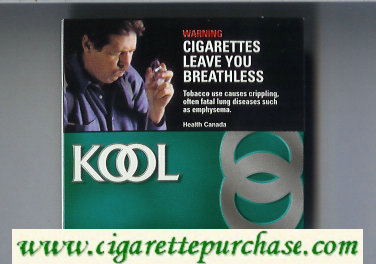Discount Kool Canadian Menthol cigarettes wide flat hard box