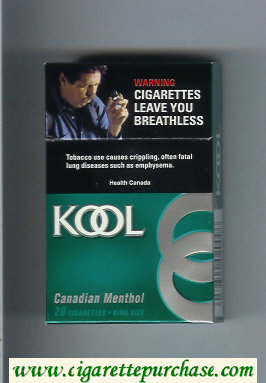 Discount Kool Canadian Menthol cigarettes hard box